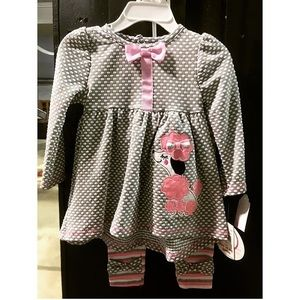 18M NWT kids poodle outfit